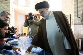 Iran's Judiciary Chief Ebrahim Raeisi casts his vote in the 11th parliamentary and Assembly of Experts elections, Tehran, Iran, February 21, 2020.