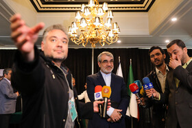 Iranian politician Abasali Kadkhodaei (M) casts his vote in the 11th parliamentary and Assembly of Experts elections, Tehran, Iran, February 21, 2020.