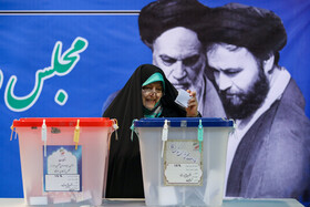Vice President for Women and Family Affairs Masoumeh Ebtekar casts his vote in the 11th parliamentary and Assembly of Experts elections, Tehran, Iran, February 21, 2020.