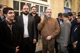 Iranian Energy Minister Reza Ardakanian casts his vote in the 11th parliamentary and Assembly of Experts elections, Qom, Iran, February 21, 2020.