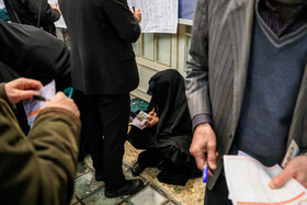 Iranians cast their vote in Iran's 11th parliamentary and Assembly of Experts elections, Tehran, Iran, February 21, 2020.