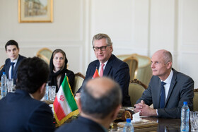 The meeting between Iranian Foreign Minister Mohammad Javad Zarif and Dutch FM Stef Blok, Tehran, Iran, February 22, 2020.