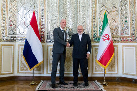 The meeting between Iranian Foreign Minister Mohammad Javad Zarif (R) and Dutch FM Stef Blok, Tehran, Iran, February 22, 2020.