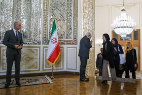 On the sidelines of the meeting between Iranian Foreign Minister Mohammad Javad Zarif and Dutch FM Stef Blok, Tehran, Iran, February 22, 2020.