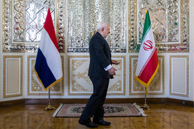 Iranian Foreign Minister Mohammad Javad Zarif is seen on the sidelines of his meeting with Dutch FM, Tehran, Iran, February 22, 2020.