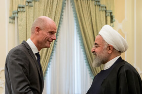 The meeting between Iranian President Hassan Rouhani (R) and Minister of Foreign Affairs of the Kingdom of the Netherlands Stef Blok, Tehran, Iran, February 22, 2020.