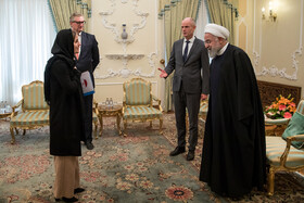 Iranian President Hassan Rouhani (R) is seen on the sidelines of his meeting with Minister of Foreign Affairs of the Kingdom of the Netherlands Stef Blok, Tehran, Iran, February 22, 2020.
