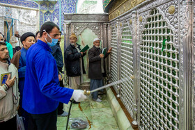 Disinfection of Hazarat-e Masoumeh Holy Shrine