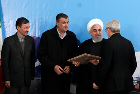 The ceremony for the official operation of Phase-1 of Tehran-North Freeway is held in the presence of Iranian President Hassan Rouhani (2nd, R), Tehran, Iran, February 25, 2020.