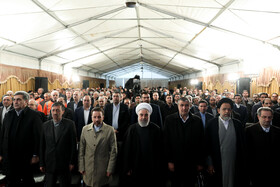 The ceremony for the official operation of Phase-1 of Tehran-North Freeway is held in the presence of Iranian President Hassan Rouhani, Tehran, Iran, February 25, 2020.