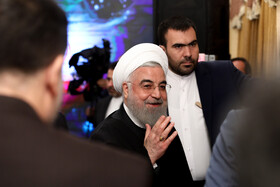 Iranian President Hassan Rouhani is seen on the sidelines of the ceremony for the official operation of Phase-1 of Tehran-North Freeway, Tehran, Iran, February 25, 2020.
