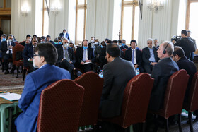 The joint meeting between ambassadors in Tehran, officials of Iran's Health Ministry and World Health Organization (WHO) Representative in Iran about the new coronavirus, Tehran, Iran, February 26, 2020.