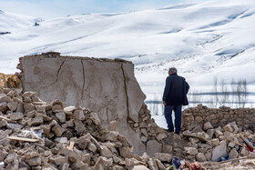 Qotur region after earthquake, Iran