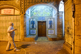 The disinfection of public places in order to curb the spread of the new coronavirus, Semnan, Iran, March 2, 2020.