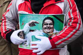 The funeral of Powerlifting World Record holder, Siamand Rahman, is held in Oshnavieh, West Azerbaijan Province, Iran, March 2, 2020.