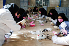 The production of face masks in Shiraz, Iran, March 3, 2020.