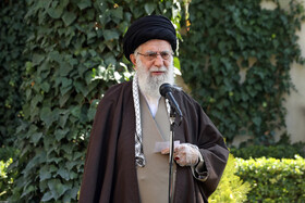 "Iran's Supreme Leader Ayatollah Ali Khamenei delivers a speech after planting two saplings ahead of Iran's ""National Week of Natural Resources"", Tehran, Iran, March 3, 2020."
