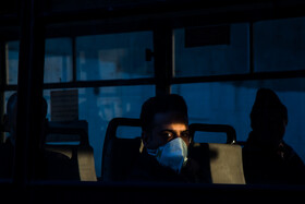 A man wears a face mask in order to protect himself from being infected by the new coronavirus, Tehran, Iran, March 4, 2020.