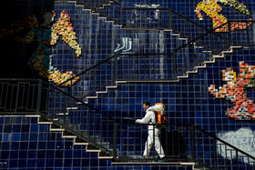 The disinfection of public places in order to curb the spread of the new coronavirus, Tehran, Iran, March 6, 2020.