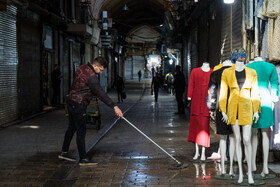 Tehran Grand Bazaar is seen amid fears over the new coronavirus, Tehran, Iran, March 11, 2020. Some people in social media try to persuade people out of going out in order to curb the spread of the new coronavirus.