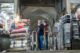 Tehran Grand Bazaar is seen amid fears over the new coronavirus, Tehran, Iran, March 11, 2020. Some people in social media try to persuade people out of shopping for the new year.