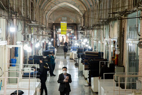 Tehran Grand Bazaar is seen amid fears over the new coronavirus, Tehran, Iran, March 11, 2020. Despite people who do not take the issue of the coronavirus seriously, there are some people who care about their health and stay at home.