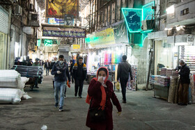 Tehran Grand Bazaar is seen amid fears over the new coronavirus, Tehran, Iran, March 11, 2020. Some people and officials say that the government should have ordered to temporarily shut business sectors in order to curb the spread of the coronavirus.