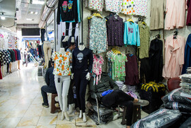 Tehran Grand Bazaar is seen amid fears over the new coronavirus, Tehran, Iran, March 11, 2020. After buying new clothes, people should disinfect them.