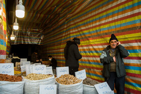 Tehran Grand Bazaar is seen amid fears over the new coronavirus, Tehran, Iran, March 11, 2020. Selling nuts, fruits, vegetable, etc. can give the virus a chance for more outbreak.