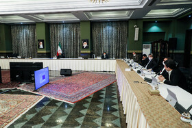 The session of the Government's Economic Headquarters is held in the presence of Iranian President Hassan Rouhani, Tehran, Iran, March 15, 2020.