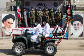 Army performs exercises to prepare its forces to counter the coronavirus outbreak, Iran, March 15, 2020.