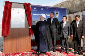 The inauguration ceremony of Phases 2 and 3 of Shahid Hemmat-Karaj Freeway is held in the presence of Iranian President Hassan Rouhani, Iran, March 17, 2020.