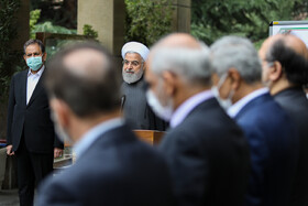 On the sidelines of the session of Iran's cabinet ministers, Tehran, Iran, March 18, 2020.