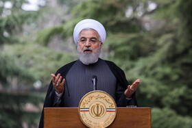 Iranian President Hassan Rouhani delivers a speech on the sidelines of the session of Iran's cabinet ministers, Tehran, Iran, March 18, 2020.