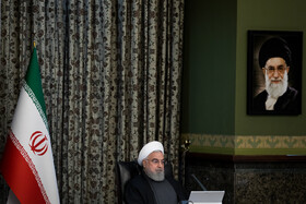 The session of Iran's cabinet ministers is held under the chair of Iranian President Hassan Rouhani, Tehran, Iran, March 18, 2020.
