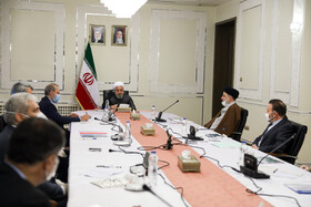 "The session of ""National Headquarters for Fighting Coronavirus"" is held in the presence of senior Iranian officials, Tehran, Iran, March 19, 2020."