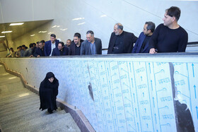 On the sidelines of Mashhad officials' visit from Mashhad Metro Line 3, Iran, May 25, 2019.