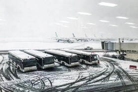Heavy snow falls across Tehran, Iran, January 19, 2020. Due to the snow, all schools of Iran's capital were closed on 19 January and domestic flights were delayed at Tehran's Mehrabad Airport.