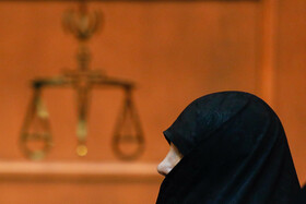 Shabnam Nematzadeh, the daughter of the former Minister of Industry, Mining and Trade, is present in her fifth court session due to alleged corruption, Tehran, Iran, October 23, 2019.