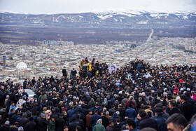 The funeral of Powerlifting World Record holder, Siamand Rahman, is held in Oshnavieh, West Azerbaijan Province, Iran, March 2, 2020. He was the current Powerlifting World Record holder in the +107 kilogram category with a 310-kilogram bench press record. Rahman passed away at the age of 31 following a heart attack on Sunday, March 1.
