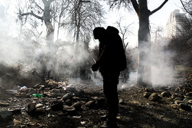 An operation to organize homeless people and addicts in Farahzad Neighbourhood, Tehran, Iran, December 22, 2019.