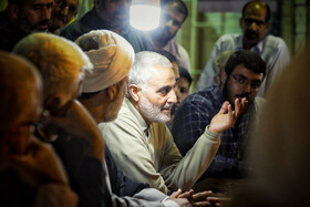 The late commander of IRGC's Quds Force, Qassem Soleimani, is seen in the photo on the sidelines of the rescue operations in the flood-hit province of Lorestan, Iran, April 8, 2019. Lieutenant General Qassem Soleimani was assassinated in US airstrikes in the Iraqi Capital Baghdad.