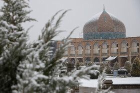 The first winter snow of Isfahan, Iran, January 14, 2020.