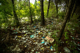 A pile of rubbish is seen in the photo, Mazandaran, Iran, November 3, 2019. Leaving the rubbish in nature is a big problem, especially in the northern cities of Iran.