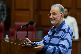 Former Tehran Mayor Mohammad Ali Najafi is present in his second court session, Tehran, Iran, July 17, 2019. Mr Najafi who had been sentenced to death for murdering his wife, was forgiven by the victim's family, and won't be executed.