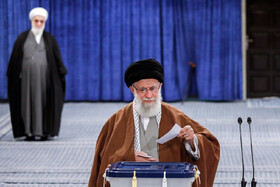 Iran's Leader casts his vote in Iran's 11th parliamentary and Assembly of Experts elections, Tehran, Iran, February 21, 2020.
