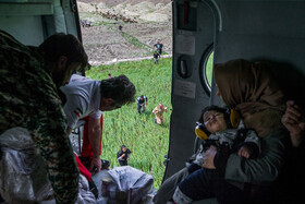 A rescue operation is launched in the flood-hit areas of Lorestan Province, Iran,  April 6, 2019.