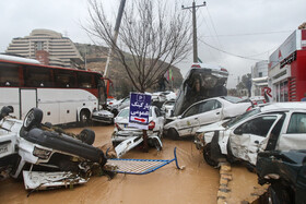 The damages of flood in Shiraz, Iran, March 25, 2019.