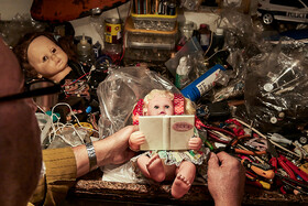 This place is where Mr. Khaleghi repairs toys, Iran, April 12, 2020.