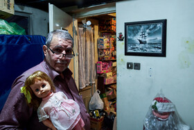 Sabah Khaleghi, a 72-year-old man who repairs toys, is seen in the photo, Iran, April 12, 2020.